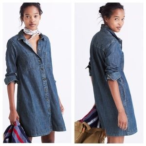 Madewell Chambray Shirtdress Button Down